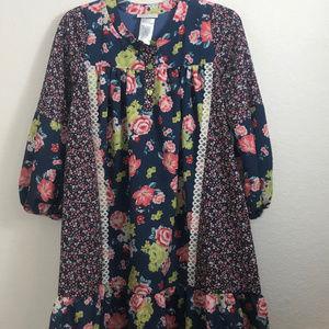 Bonnie Jean  Size 16 Dress/Tunic ruffle bottom